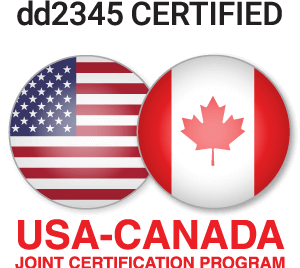 DD2345 Certified Usa and Canada logo